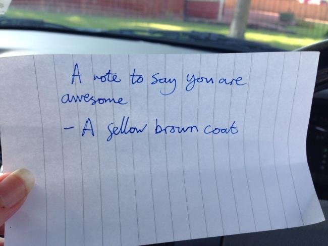browncoat note
