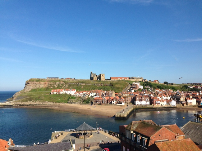 The beautiful view across the bay in Whitby