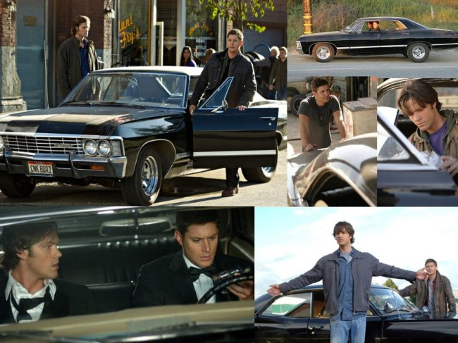 Sam and Dean in the Impala