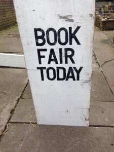 Book Fair sign