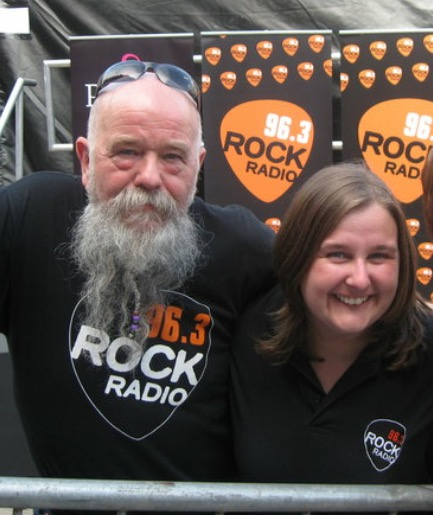 Me with the Beard of Doom, Tom Russell. I went from listening to him to counting him as a friend. You will never meet a more dedicated man and the public would be lucky to have him back on a dedicated Rock station