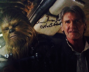 I love that he wrote 'Chewbacca' underneath, like I wouldn't know who he was!