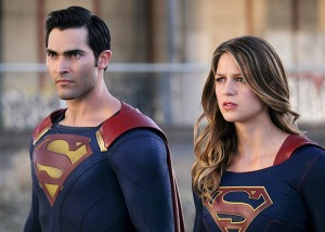"Supergirl -- ""The Last Children of Krypton"" -- Image SPG202a_0174-- Pictured (L-R): Tyler Hoechlin as Clark/Superman and Melissa Benoist Kara/Supergirl -- Photo: Robert Falconer/The CW -- �© 2016 The CW Network, LLC. All Rights Reserved"